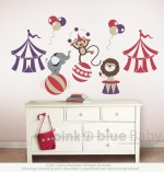 Pink N Blue Baby - Animal Friends in Circus Wall Decal