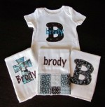 Sunfire Creative - Personalized Burpcloth and Onesie Gift Set