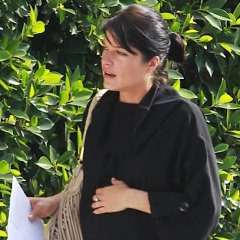Selma Blair Gets Cozy Before Running Errands In Los Angeles