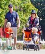 Naomi Watts and Liev Schrieber stroll with sons Sammy & Sasha