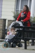 Jools Oliver with son Buddy and daughter Petal