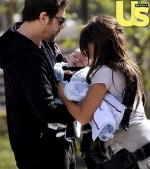 Penelope Cruz and Javier Bardem out with baby Leo
