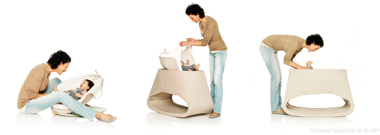stokke announces bounce n sleep bouncer and daybed. Black Bedroom Furniture Sets. Home Design Ideas