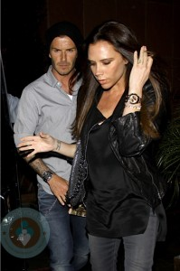 David and an Expectant Victoria Beckham (April6th, 2011)