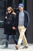 A pregnant Natalie Portman and boyfriend Benjamin Millepied