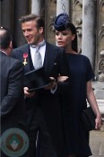 Victoria and David Beckham at the Royal Wedding