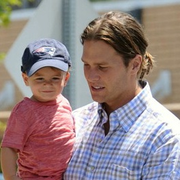 Tom Brady Runs Errands With His Son Benjamin