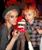 Ashlee Simpson attends Lucky Magazine with son Bronx