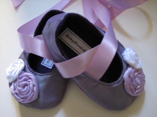 Baby Blush Boutique - Lavender Baby Soft Ballerina Slippers
