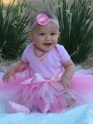 Baby Blush Boutique - Pretty in Pink Tutu with FREE Satin Flower Headband