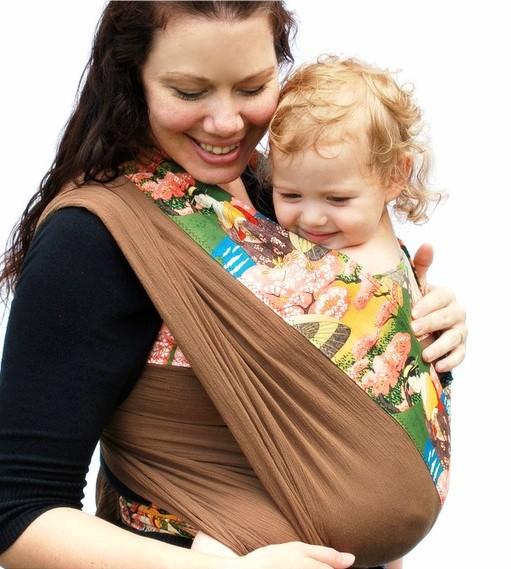 Baby Ette Japanese Sunset Banded Luxury Babyette Woven Baby Wrap