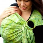 Baby Ette - Mossy Meadow Batik Superwide baby Ring Sling