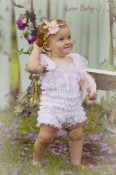 BabyJCouture - Sweet Vintage Lace Petti Romper