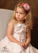 Celeste & Company - Hot Pink Satin Wrapped Headband with Matching Pink Flower