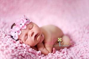 Celeste & Company - Pink and Black Triple Dainty Flowered Headband