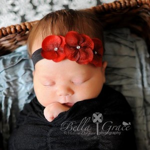 Celeste & Company - Triple Dainty Flowered Headband - Babies, Infants and Toddlers