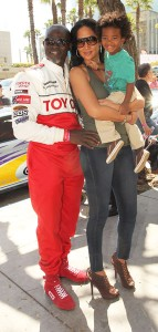 Djimon Hounsou Kimora Lee and their son, Kenzo Lee Hounsou