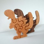 Eco Tot Toys - Maple Wood Dino Puzzle Toy for Toddlers