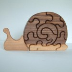 Eco Tot Toys - Walnut Wood Snail Puzzle Toy for Toddlers