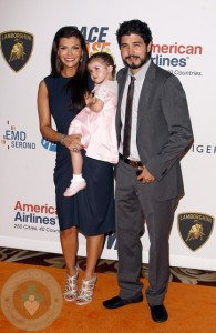 Ali Landry with her husband Alejandro and daughter Estella at The 17th Annual Race To Erase MS Event