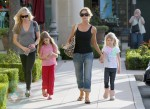 Denise Richards and daughter Sam and Lola