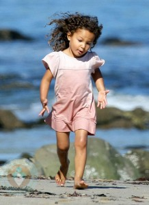 Halle Berry and Nahla at a Malibu Beach