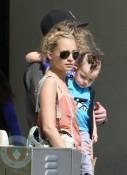Nicole Richie with Joel Madden and their children Harlow and Sparrow