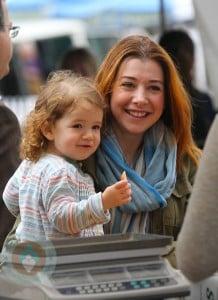 Alyson Hannigan and daughter Satyana