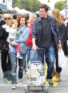 Alyson Hannigan and Alexis Denisoff with daughter Satyana
