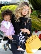 Heidi Klum with daughter Lou