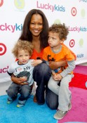 Garcelle Beauvais with sons Jax and Jaid