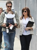Tiffani Thiessen with husband Brady Smith and daughter Harper