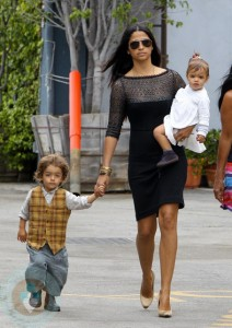 Camila Alves with daughter Vida and son Levi McConaughey
