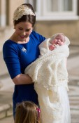 Princess Mary of Denmark with one of her twins