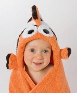 RubaDub Buddies - Clownfish Hooded Towel