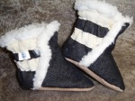 Soft Soul Baby Shoes - denim and leather soft soled baby booties