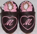 Soft Soul Baby Shoes - softsoul leather baby shoes initial in a heart you choose color and size