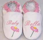 Soft Soul Baby Shoes - softsoul personalized leather baby shoes name and flower