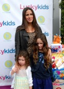Soleil Moon Frye with daughters Jagger(L) & Poet(R)