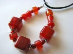 Stones of Healing - Carnelian Solo - Nursing, Grabbing, and Healing Necklace