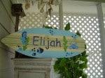 Sunday Treasures - 27 inch Surfboard Wall art Beach