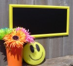 Sunday Treasures - YELLOW CHALKBOARD in wood Frame