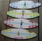 Sunday Treasures - YOUR KIDS PAINTED ON AN 18 inch SURFBOARD