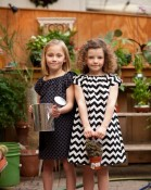 The Measure - Black and white mod chevron stripe dress