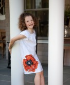 The Measure - Upcycled poppy dress