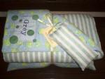 Toddler Swaddler - Monogrammed Blanket, Pillow and Door Pillow Set