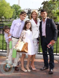 Mark Consuelos and Kelly Ripa with their kids Michael, Joaquin and Lola