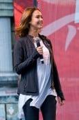 A pregnant Jessica Alba at Revlon Walk in NYC
