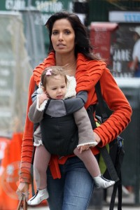 Padma Lakshmi and daughter Krishna in New York City