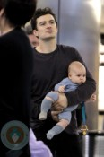 Orlando Bloom and son Flynn at LAX